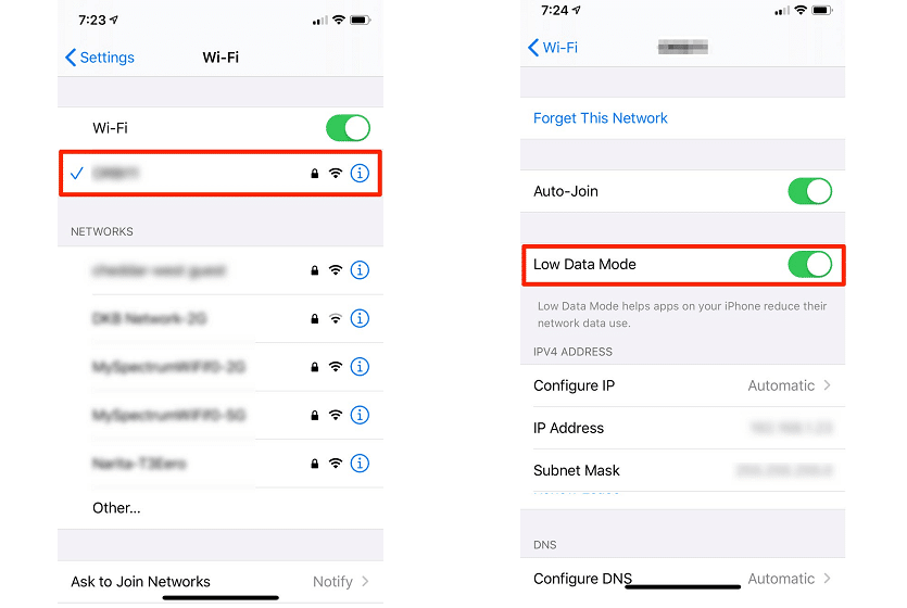Wi-Fi Low Data