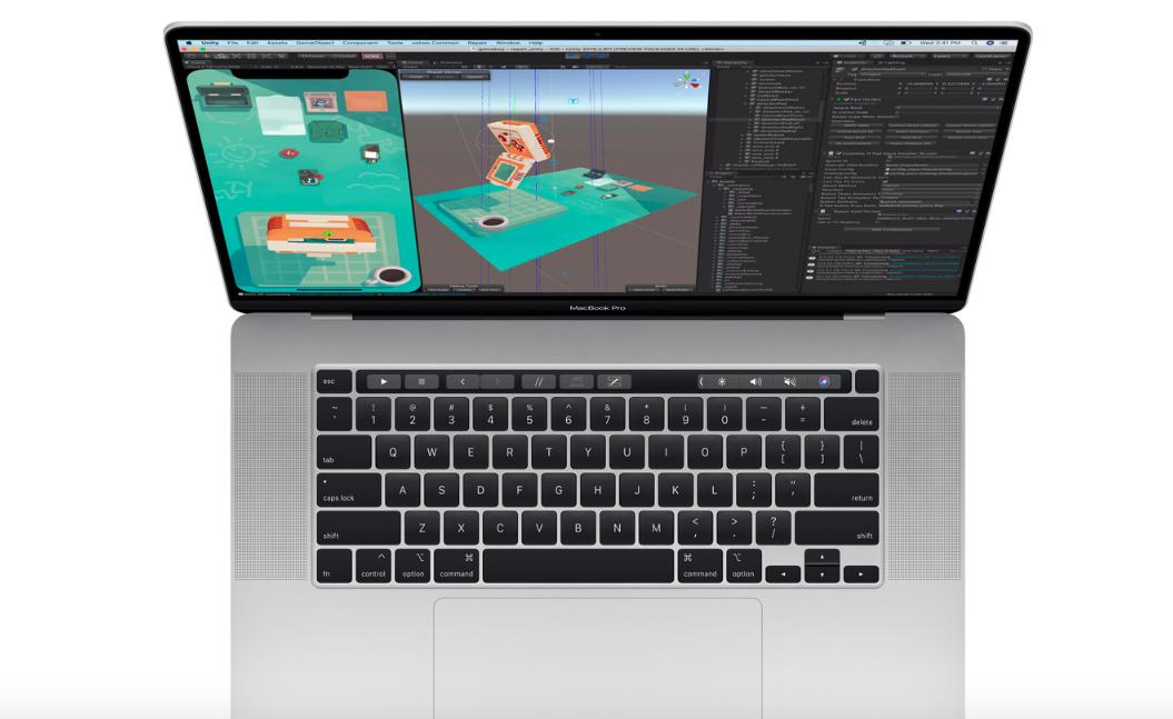 لوحة مفاتيح MacBook Pro 16 الجديد