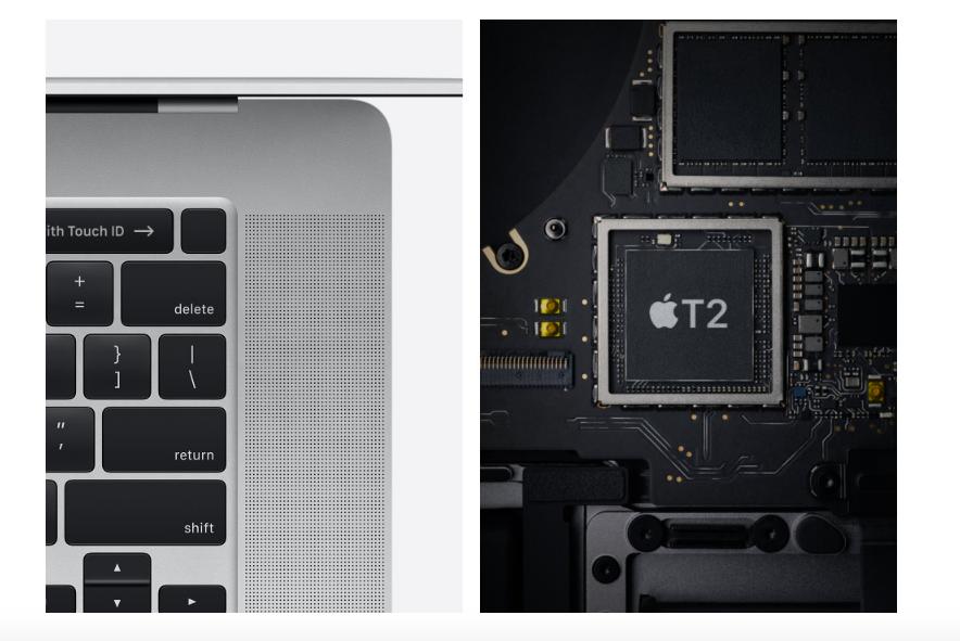 MacBook Proبشريحة أمان T2 من Apple