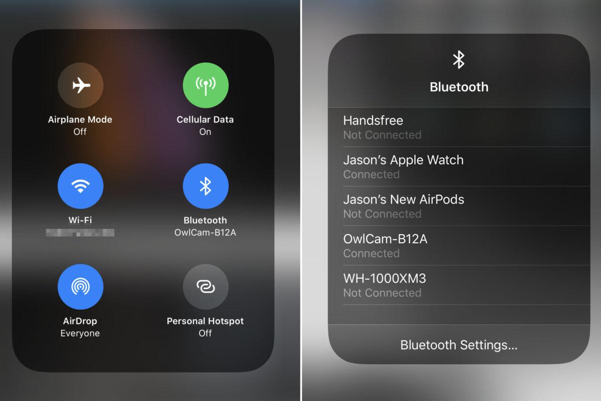 Wi-Fi و Bluetooth من مركز التحكم