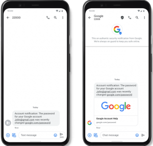 جوجل تحميك من الرسائل المزعجة وتطلق Verified SMS في تطبيق Messages