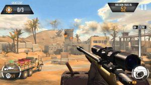 كيفية استخدام لعبة القناص Sniper 3D للايفون