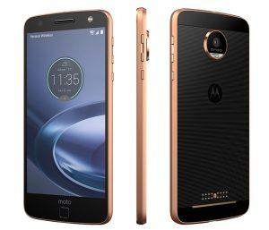 Motorola moto z force gold black