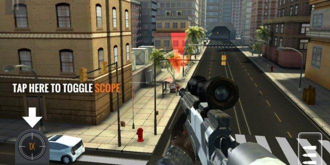 مميزات لعبة القناص Sniper 3D