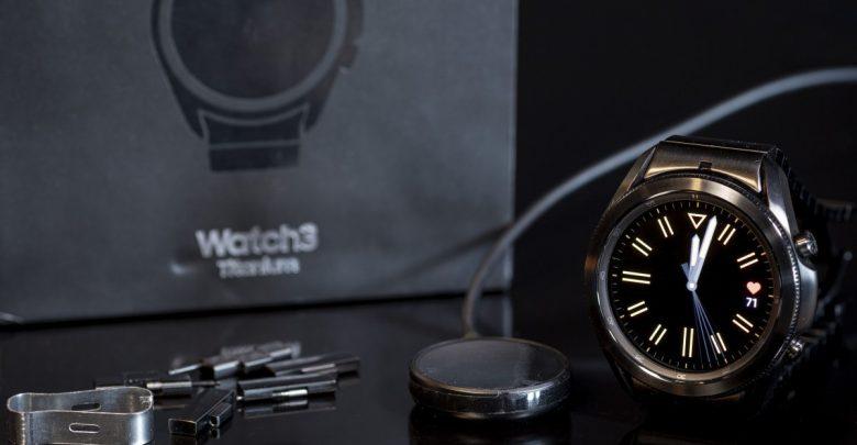 سعر ومواصفات الساعه الذكيه Samsung Galaxy Watch3 Titanium
