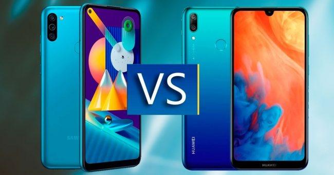 مقارنة بين هاتفي Samsung Galaxy M11 و Huawei Y7