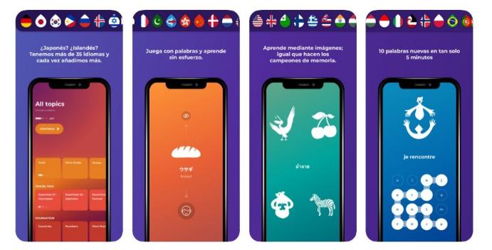 تطبيق Drops من افضل تطبيقات لتعلم اللغة