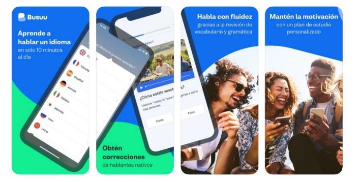 تطبيق Busuu: تعلم اللغات