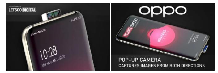هاتف OPPO بكاميرا أمامية منبثقة