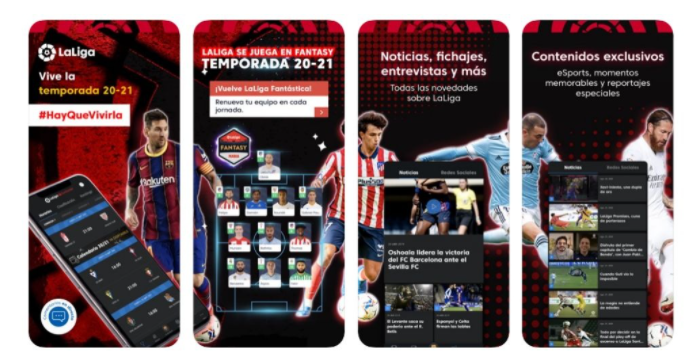 La Liga: تطبيق كرة القدم الرسمي :